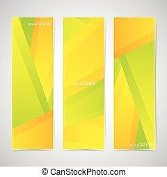 網, 使われた, カラフルである, ありなさい, イラスト, 3, デザイン, コレクション, 旗, .vector, あなたの, 缶