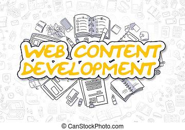 網, 内容, 開発, -, ビジネス, concept.