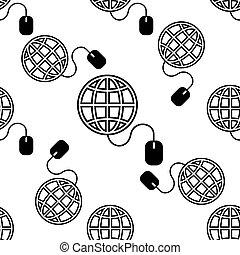 網, 地球, seamless, パターン, カーソル, アイコン, 矢, 行きなさい