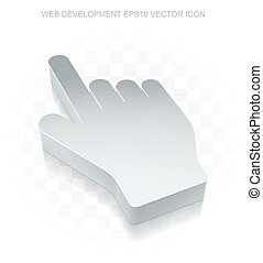 網, 平ら, カーソル, eps, icon:, 金属, デザイン, vector., 3d, 影, マウス, 透明, 10