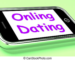 網, 愛, 電話, ショー, デートする, オンラインで, romancing