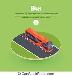 網, 等大, banner., バス, ベクトル, 部分, 道