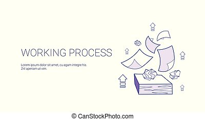 網, 管理, ビジネス, 仕事, スペース, プロセス, 概念, コピー, 旗