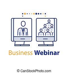 網, 訓練, ビジネス, 指導, オンラインコース, セミナー, mentoring, 聴衆, スピーカー, ミーティング, インターネット, 講義, webinar
