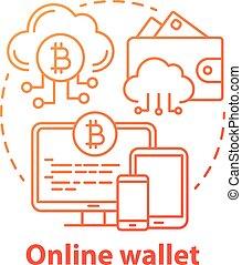 網, 隔離された, 銀行業, 雲, 線, を経て, 概念, 図画, オンラインで, 考え, 電子の支払い, 計算, ...