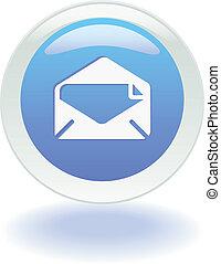 網, 電子メール, ボタン