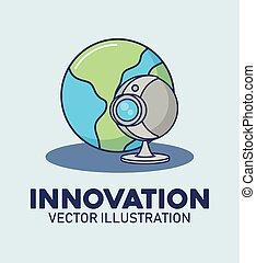 網, 革新, カメラ, デジタル世界, 技術