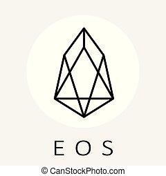 網, blockchain, 黒, アプリケーション, 分散させられた, ロゴ, アセンプリ, ベクトル, eos, 白