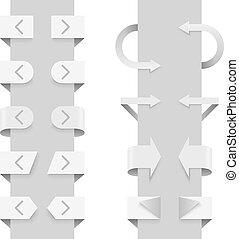 網, elements., 矢, スライダー, ベクトル, テンプレート