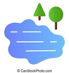網, eps, 勾配, 自然, 湖, style., スタイル, icon., 10., app., 最新流行である, 設計された, 水, デザイン, 木が彩色する, アイコン, 平ら