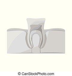 網, icon., illustration., きれいにしなさい, デザイン, 歯, 株, ベクトル,...