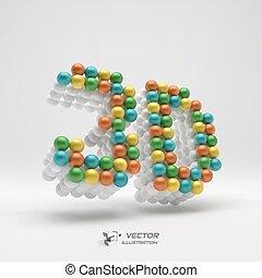 網, illustration., 印。, ベクトル, デザイン, icon., element., 3d