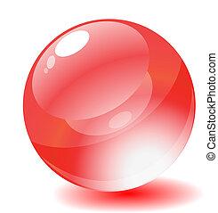 網, illustration., button., ベクトル, グロッシー, 円, 赤