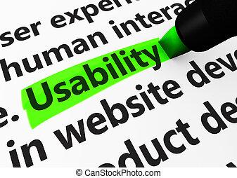 網, usability, 概念, 印