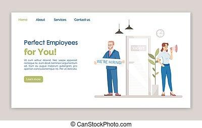 網, web ページ, あなた, ページ, 平ら, 雇用, 完全, ウェブサイト, インターフェイス, layout...