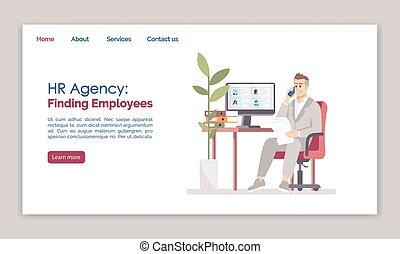 網, web ページ, ページ, 平ら, 求人, ウェブサイト, インターフェイス, layout., 時間, 概念...