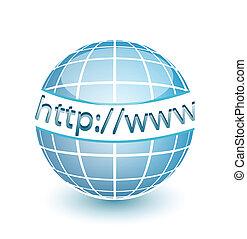 網, www, http, 地球, インターネット
