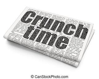 緊張状態, ビジネス, 背景, 時間, 新聞, concept: