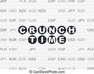 緊張状態, 金融, 壁, 背景, 時間, concept: