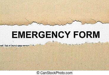緊急事件, 形式