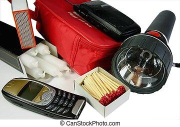 緊急事件, 成套用具
