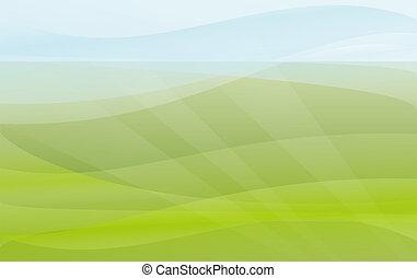 緑の、そして青い, 背景