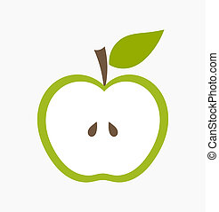 緑のリンゴ, イラスト