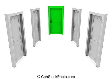 緑の戸, 選びなさい