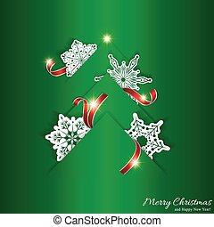 緑の木, クリスマス, 背景