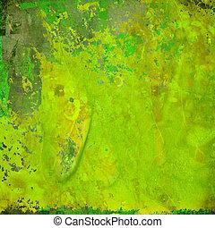 緑の概要, グランジ, カラフルである, 背景