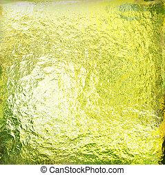 緑の概要, グランジ, 背景, 黄色