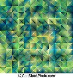 緑の概要, 光沢がある, 幾何学的, 背景