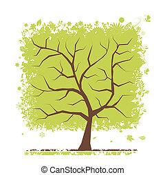 緑の概要, 木, あなたの, デザイン