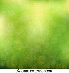 緑の背景, ぼんやりさせられた