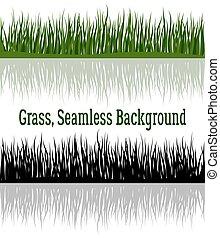 緑の草, シルエット