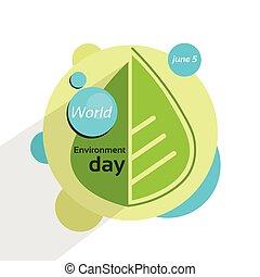 緑の葉, ∥で∥, 水滴, 世界, 環境, 日