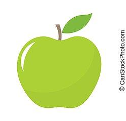 緑の葉, アップル