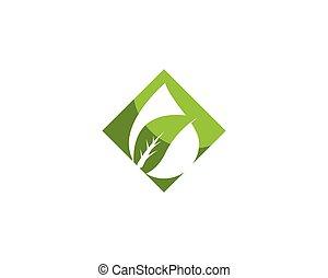 緑の葉, 自然, エコロジー, テンプレート