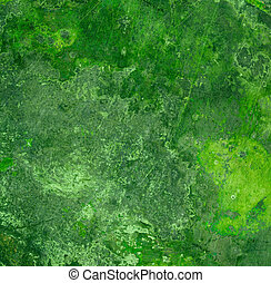 緑の金属, さび, 背景