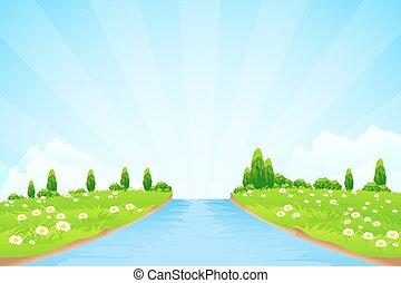 緑の風景, 木