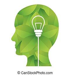 緑, イメージ, デザイン, 考え, 考え
