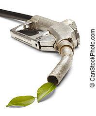 緑, エネルギー, ガスポンプ