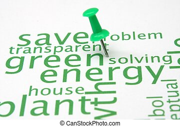 緑, エネルギー, 単語, 雲