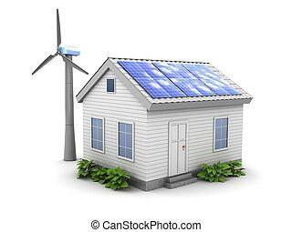 緑, エネルギー, 家