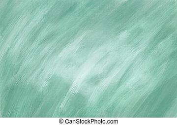 緑, キャンバス, 抽象的, ペンキ, オイル, 手ざわり, バックグラウンド。