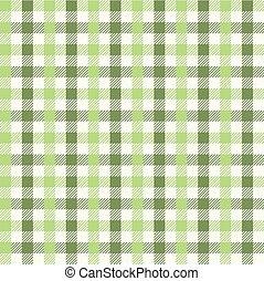 緑, ギンガム, 土, pattern., seamless