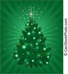 緑, クリスマス, 背景