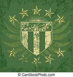 緑, グランジ, 保護