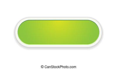 緑, グロッシー, ボタン