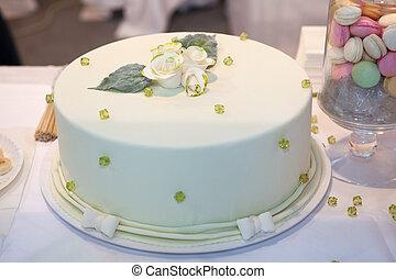 緑, ケーキ, 結婚式